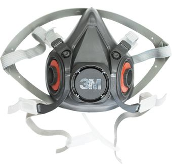 3M 6300 Respirator Half Mask Detailed View, Front
