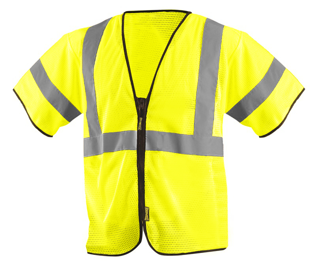 Occunomix ECO-GCZ3 Mesh Standard Vest With Zipper Front Yellow