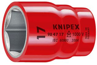 "Knipex Tools Metric Insulated Hexagon Sockets For 1/2"" Driver"