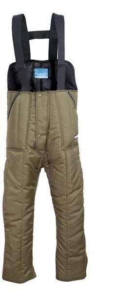RefrigiWear Cold Weather Apparel - Iron-Tuff™ Low Bib Overall 0345 - Sage