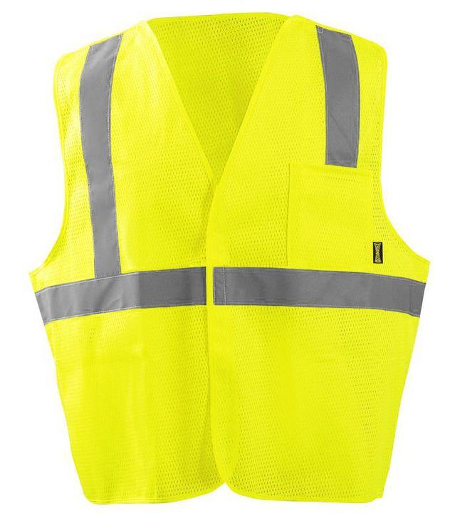 Occunomix ECO-IMB Break-Away Mesh Vest Front Yellow