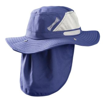Occunomix TD500 Tuff & Dry Wicking and Cooling Hat w/ Neck Shade Navy Front