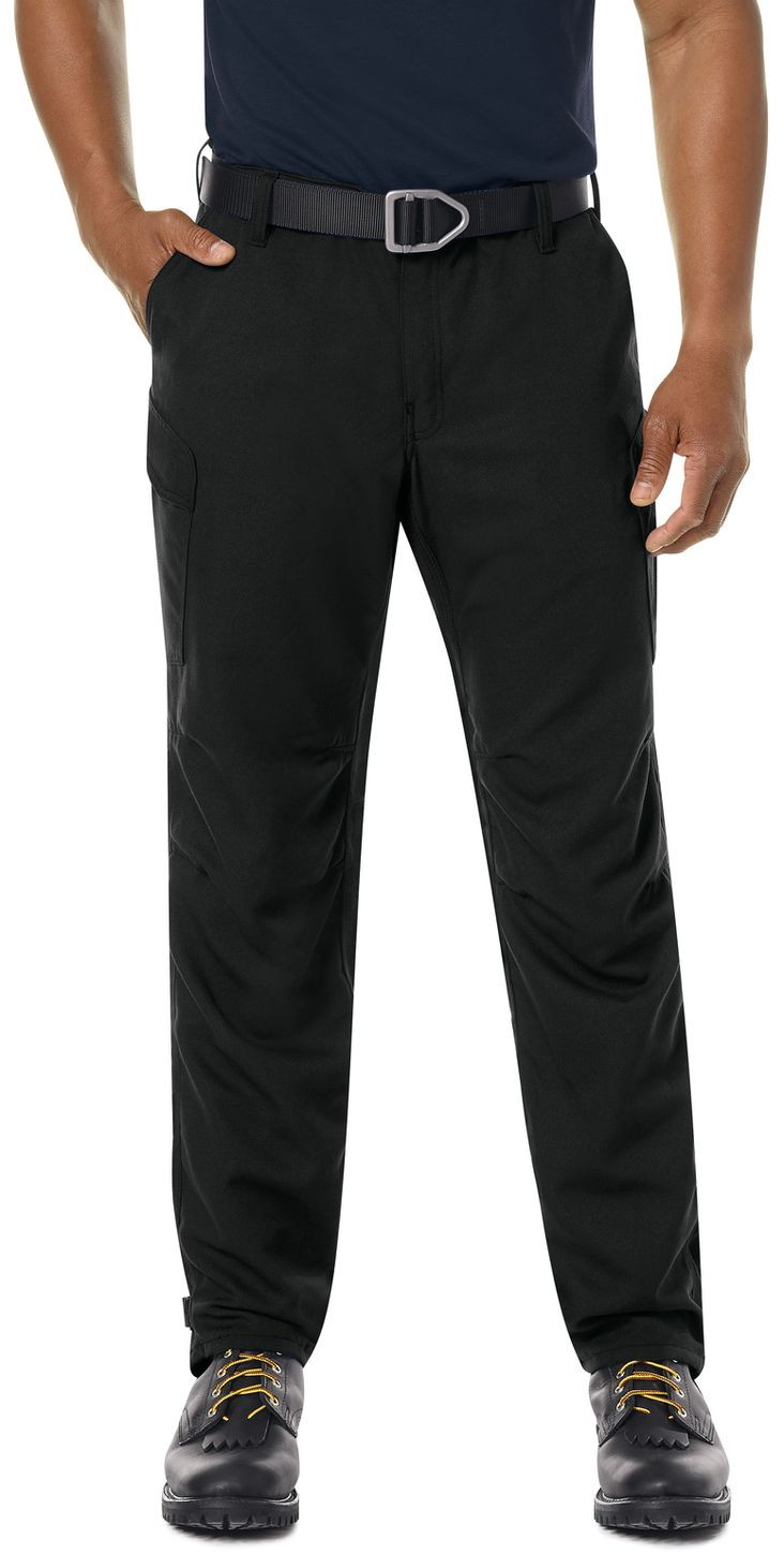 Workrite FR Pants FP62 Wildland Dual-Compliant Tactical Midnight Navy Black Example Front