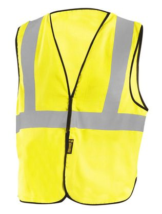 Occunomix LUX-XFR Hi-Viz Flame Resistant NON-ANSI Solid Vest Yellow Front