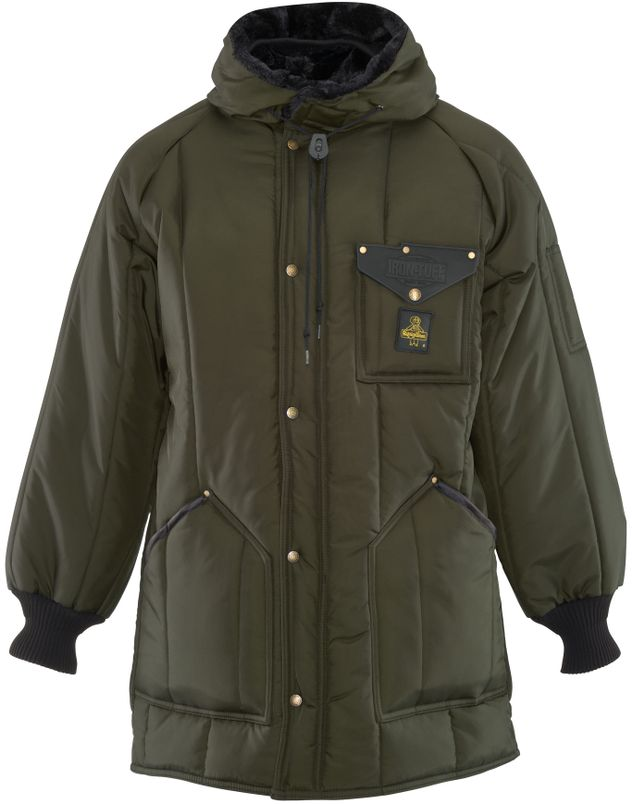 RefrigiWear 0360 Iron-Tuff Winter Work Parka Thigh Length Sage Front