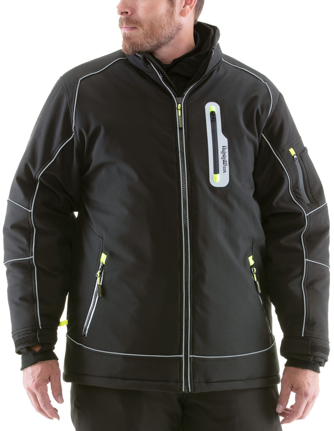 RefrigiWear 0790 Extreme Collection Softshell Jacket Front Example