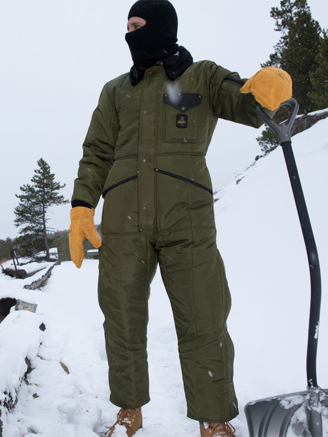 RefrigiWear 0344 Iron-Tuff Insulated Work Coverall Sage Example