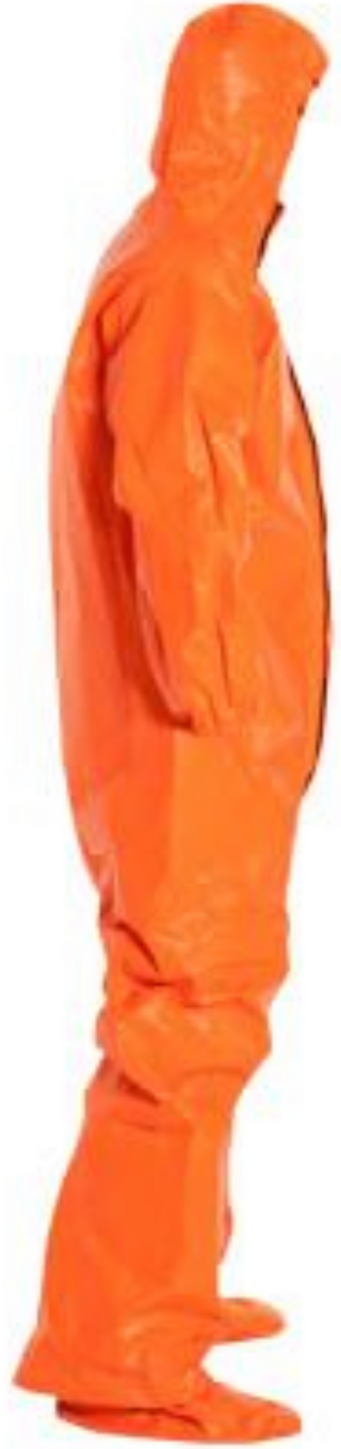 DuPont Tychem ThermoPro Suit with Hood - Elastic Wrists - Socks - Double Storm Flap - TP199T Right Side