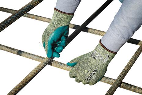 Ansell HyFlex Aramid Work Gloves 11-501 - Foam Nitrile, Stretch Armor, Cut Protection Example