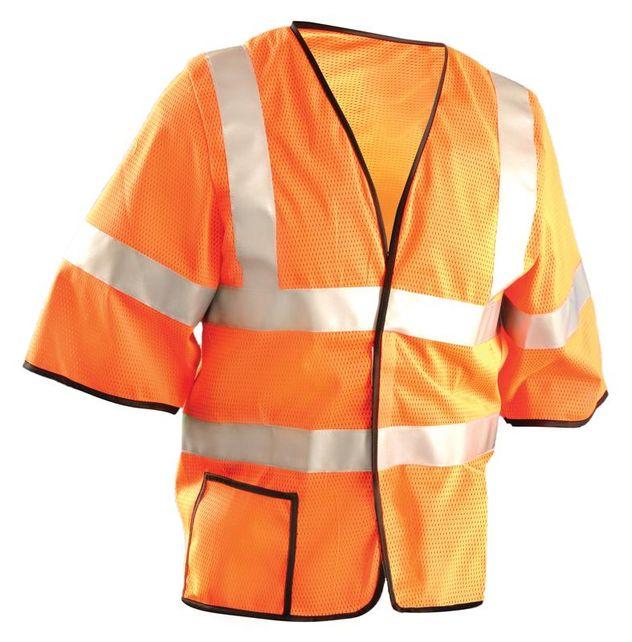 Occunomix LUX-HSCOOL3-O Mesh Dual Stripe Vest, Orange