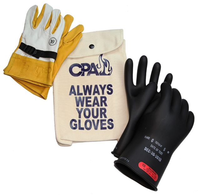 Chicago Protective Apparel Electrician's Class 0 Glove Kit GK-0-11