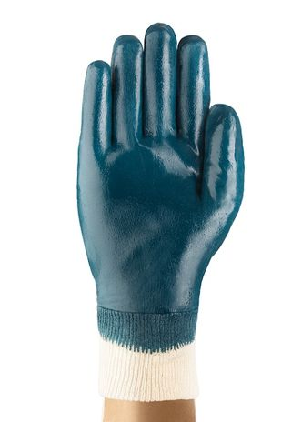 Ansell Hylite Fully Nitrile Dipped Gloves 47-402 with Knit Wrists Front