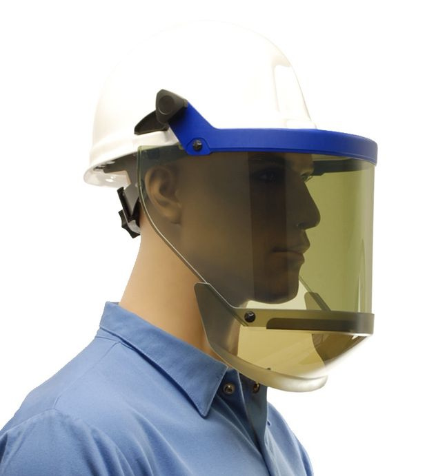 12 calorie grey visor arc flash face shield kit from CPA