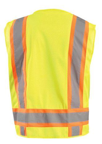 Occunomix ECO-ATRNSM Value Two-Tone Surveyor Mesh Vest Back Yellow