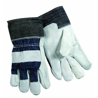 Steiner Shoulder Split Cowhide Work Gloves Palm SPC04 - Denim Black