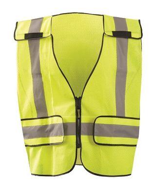 Occunomix LUX-PS-DOR Mesh Public Safety Break-Away Vest w/DOR, Plain Front