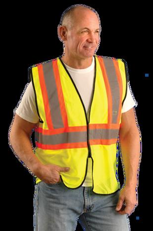 Occunomix eco-gc2t mesh two tone vest yellow