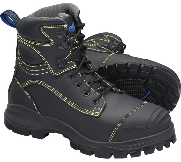 """Blundstone 994 XFOOT Rubber Lace-Up Steel Toe Boots - 6"""", Metatarsal Protection, Puncture Resistant Insole, Water Resistant"""