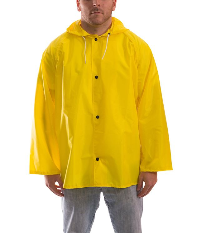 Tingley J21107 Eagle™ Water Repellant Jacket - Polyurethane Interior, with Attached Hood Front