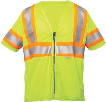 OK-1 Safety Vests ILDOT3MZ-04 in Yellow