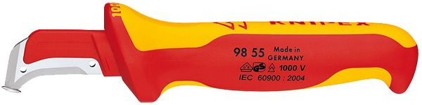Knipex Tools Lineman's Insulated Dismantling Knife with Guide Shoe 98 55
