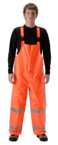 nasco arclite hi vis arc flash orange rain bib