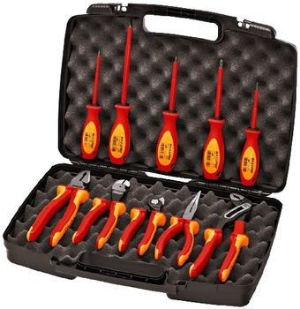 Knipex Tools Insulated Pliers and Screwdriver Tool Set in Hard Case 9K 98 98 30 US