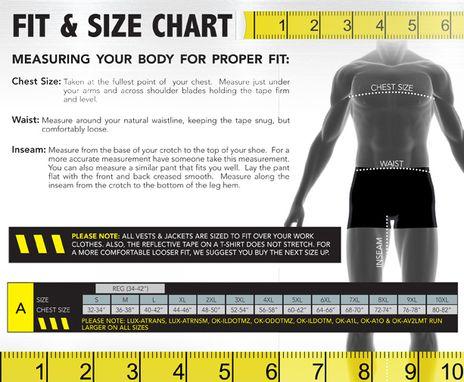 Occunomix size chart A