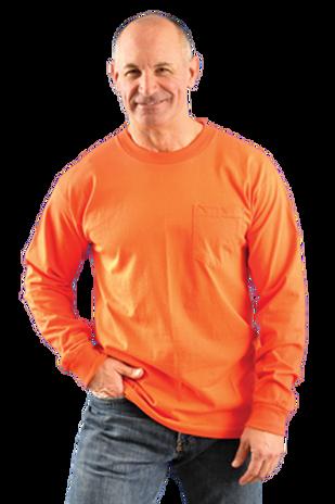 Occunomix LUX-300LP Hi-Viz Classic Cotton Long Sleeve T-shirt Example