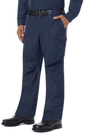 Bulwark FR Workrite Tactical Ripstop Pants FP40 Navy Example Left