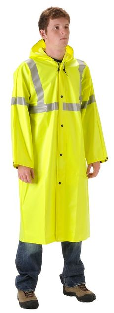 Nasco WorkChoice Hi Viz 513CFY221 Batwing Sleeve Waterproof Rain Coat
