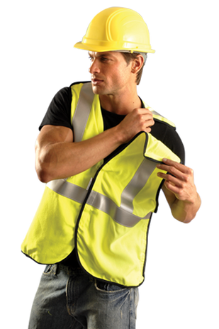 Occunomix LUX-SSBRPFR Hi-Viz Premium Flame Resistant 5-PT Break-Away Solid Vest Example