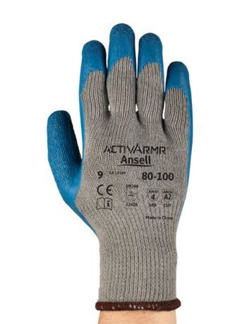 Ansell PowerFlex Gloves 80-100 with Textured Latex Palms Back