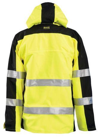 Occunomix SP-BRJ Hi-Viz Breathable Rain Jacket, Class 3 Back