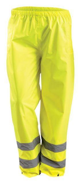 Occunomix LUX-TRPNT Hi-Viz Breathable Rain Pants, Class E