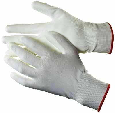 polyurethane palm coated gloves white hq1201