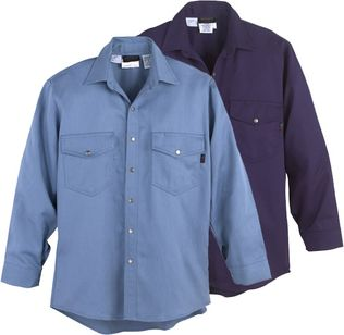 Workrite Fire Resistant Shirt 228ID70/2287 - 7 oz Indura, Long Sleeve Western-Style