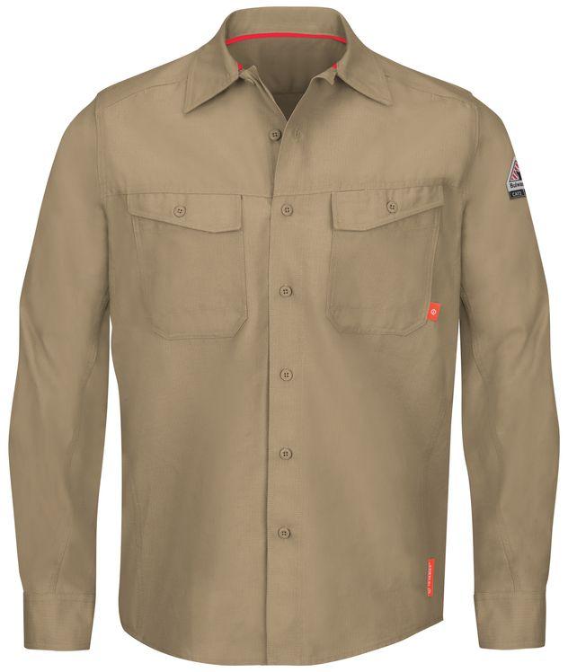 bulwark-fr-shirt-qs40-iq-series-endurance-work-shirt-khaki-front.jpg