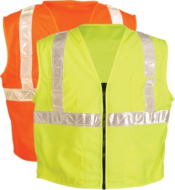 OK-1 Safety Vests SCO, SCL - Class 2 Mesh Back Polyester