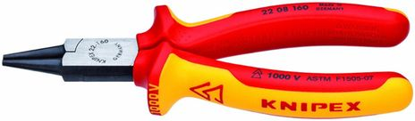 Knipex Insulated Round Nose Pliers 22 08 160 SBA
