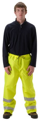 nasco worklite yellow hi viz lightweight tear resistant foul weather pant