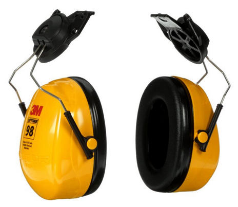 3M Peltor Optime 98 Ear Muffs H9P3E Cap-Mount Side