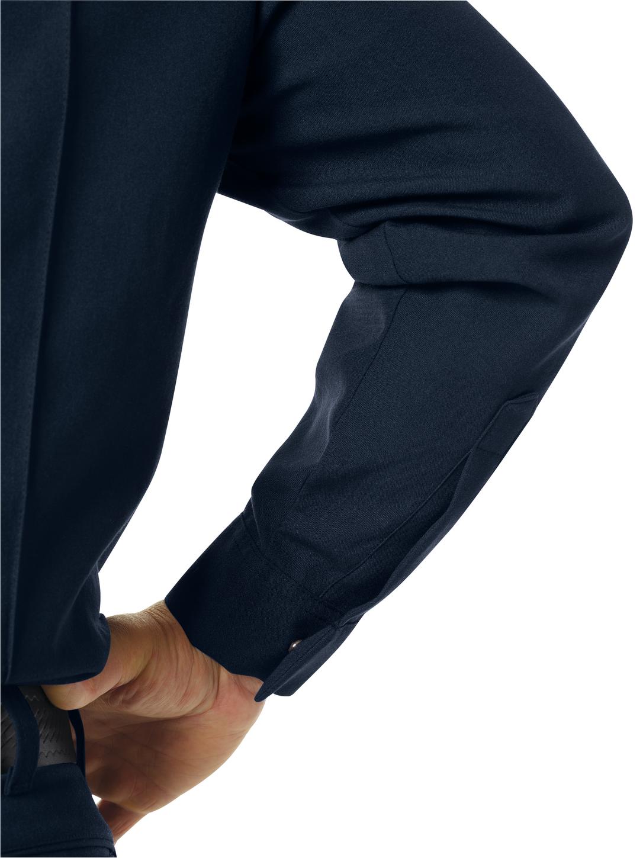 Workrite FR Fire Officer Shirt FSE0 Classic Long Sleeve Midnight Navy Example