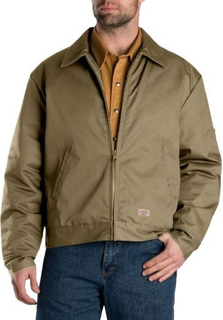 Dickies Men's Outerwear - Lined Eisenhower Jacket TJ15 - Khaki