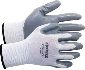 4Works HR1202 Nitrile Coated Nylon Gloves
