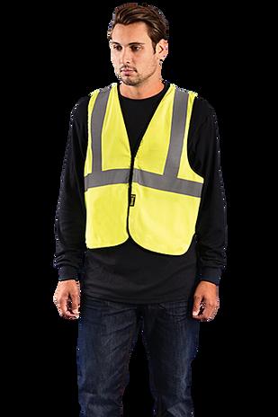 Occunomix LUX-XFR Hi-Viz Flame Resistant NON-ANSI Solid Vest