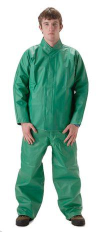 nasco acidbasic green chemical acid resistant waterproof rainsuit