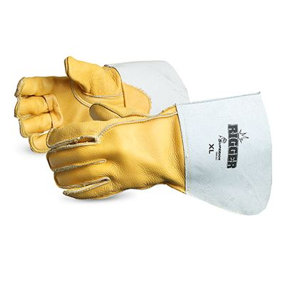Superior Mig Tig Welding Gloves 365GC Deluxe Cowgrain Leather Rigger w/ 5 Inch Cuff