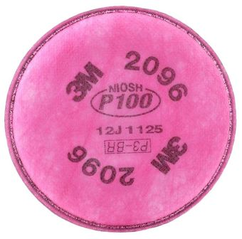 3M 2096 P100 Filters - Nuisance Acid Gas Relief