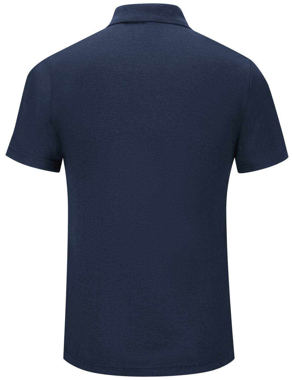Workrite FR Polo Shirt FT10, Short Sleeve, Station Wear Navy Back